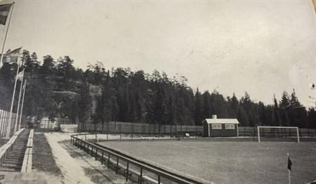 Så här såg det ut på Essviksvallen för många år sedan. Foto från Essviks AIF:s hemsida.