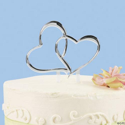 cake top två hjärtan
