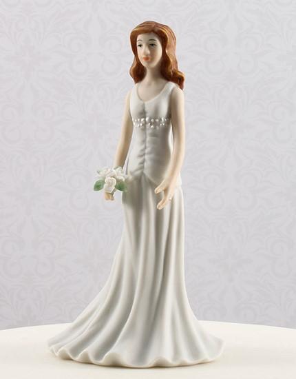 cake top brud i klänning