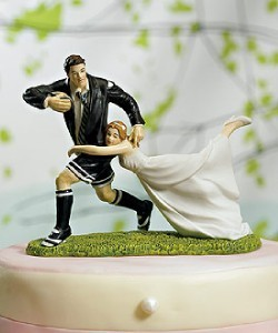 Cake top - Rugby/amerikansk fotboll