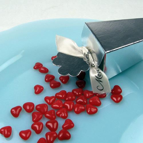 röda hjärtgodisar