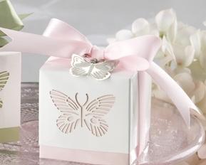 Ask - Fjäril i rosa