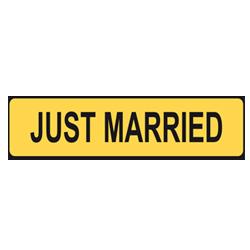 Bilskylt - Just Married - Gul