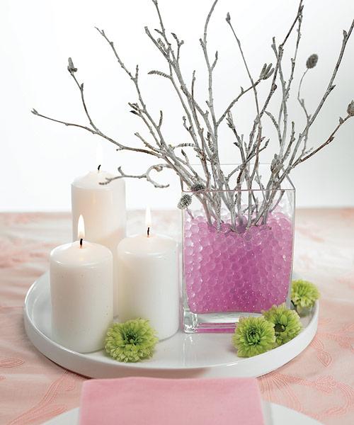 vattenpärlor rosa i dekoration