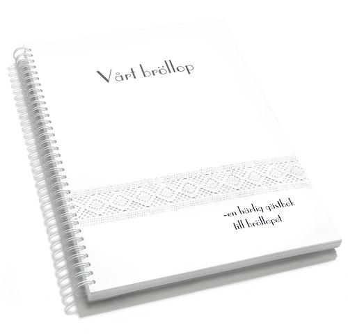 gästboken bröllop spets