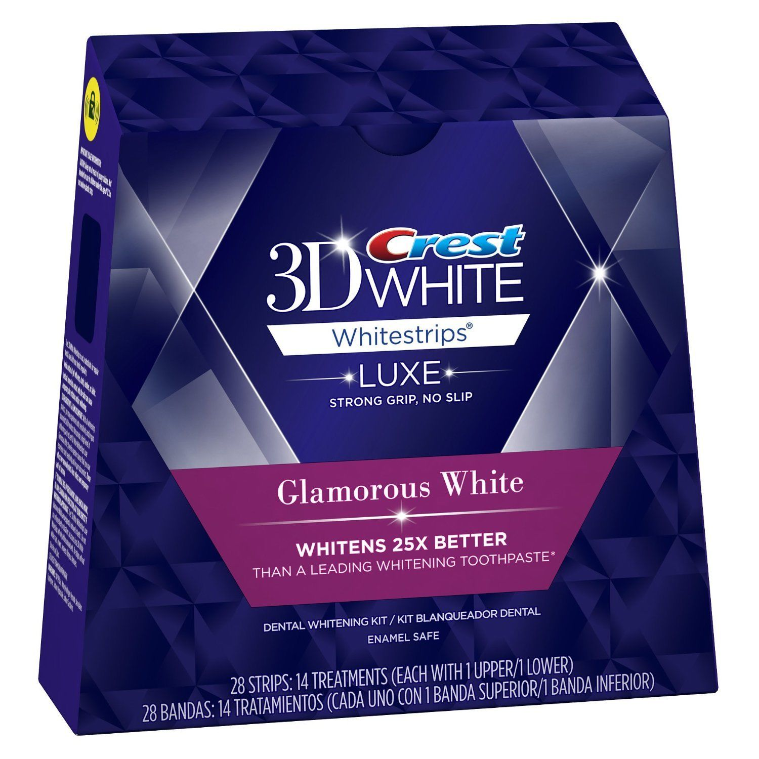 crest glamorous white strips how to use