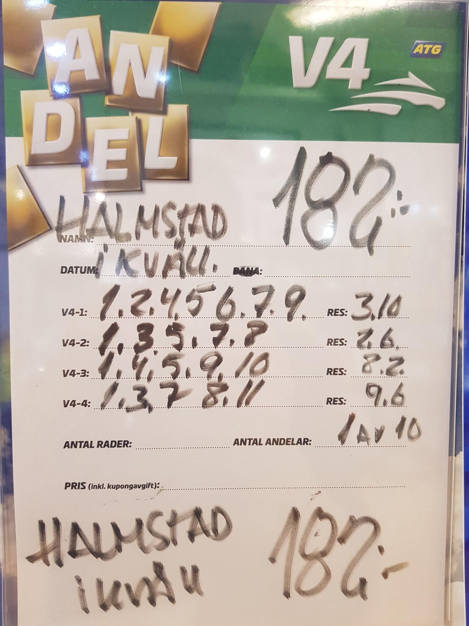 grönlands sydligaste udde utbildning till personlig tränare linköping  jackpot - halmstadtravet! 50c305a4d0c1a