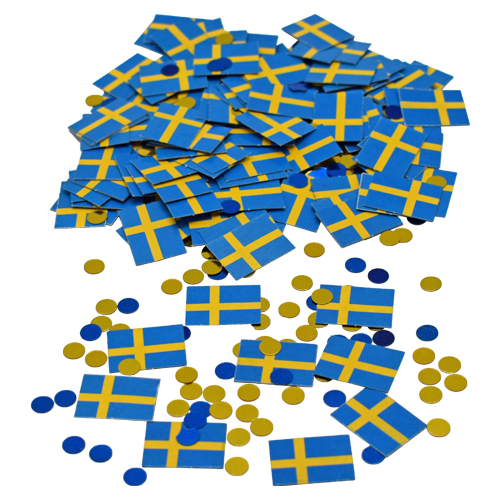 confetti flags sweden