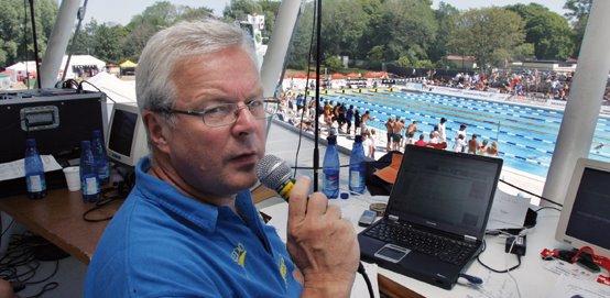 Speaker på SM i simning. Så har det varit 50 gånger genom åren. Från 1986-2012.