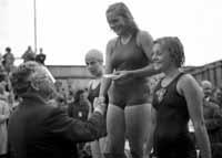 Bergvall som prisutdelare 1944 på SM i Malmö