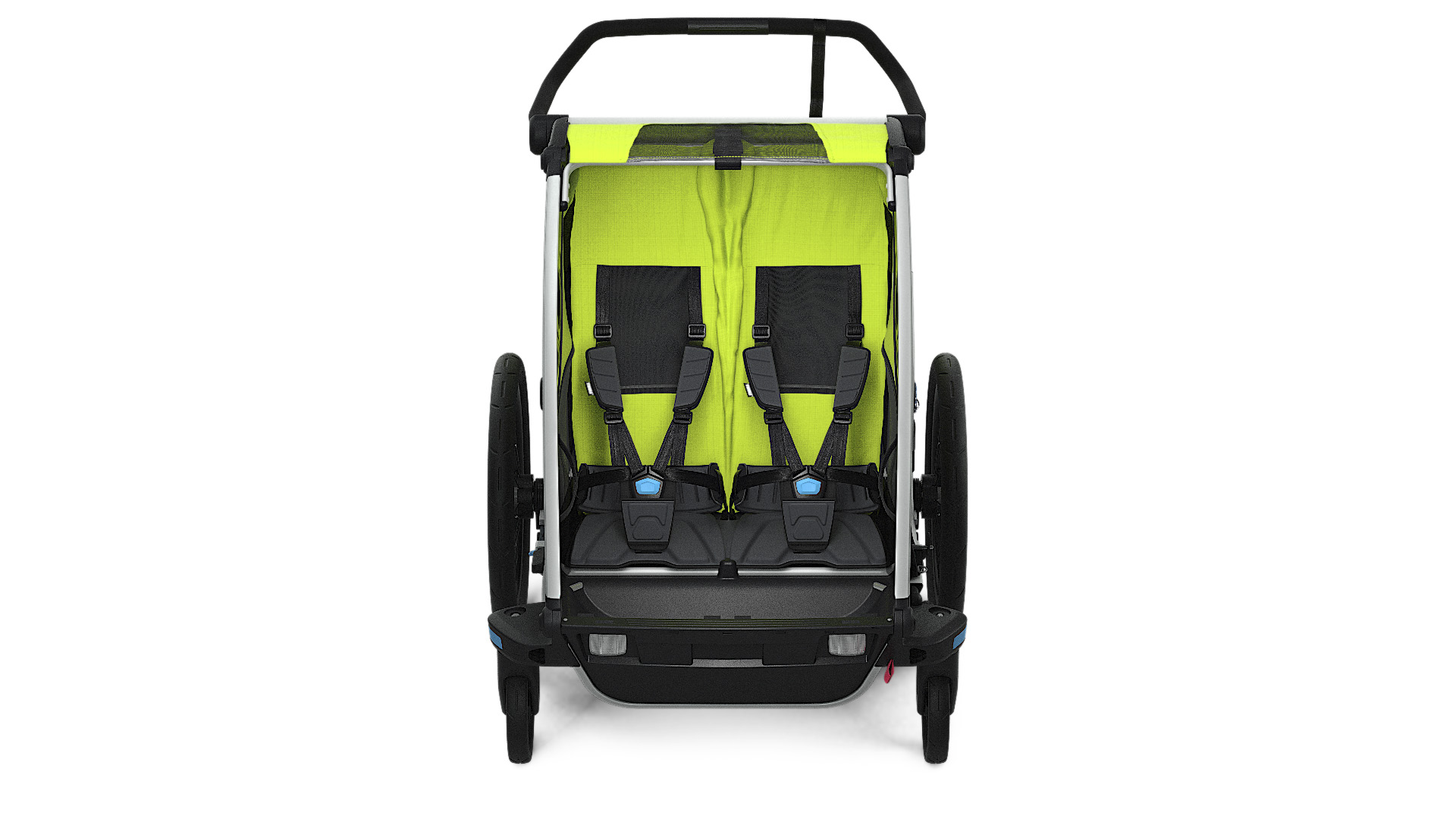 Thule_Chariot_Cab2_Chartreuse_Strolling_FRONT_10204001