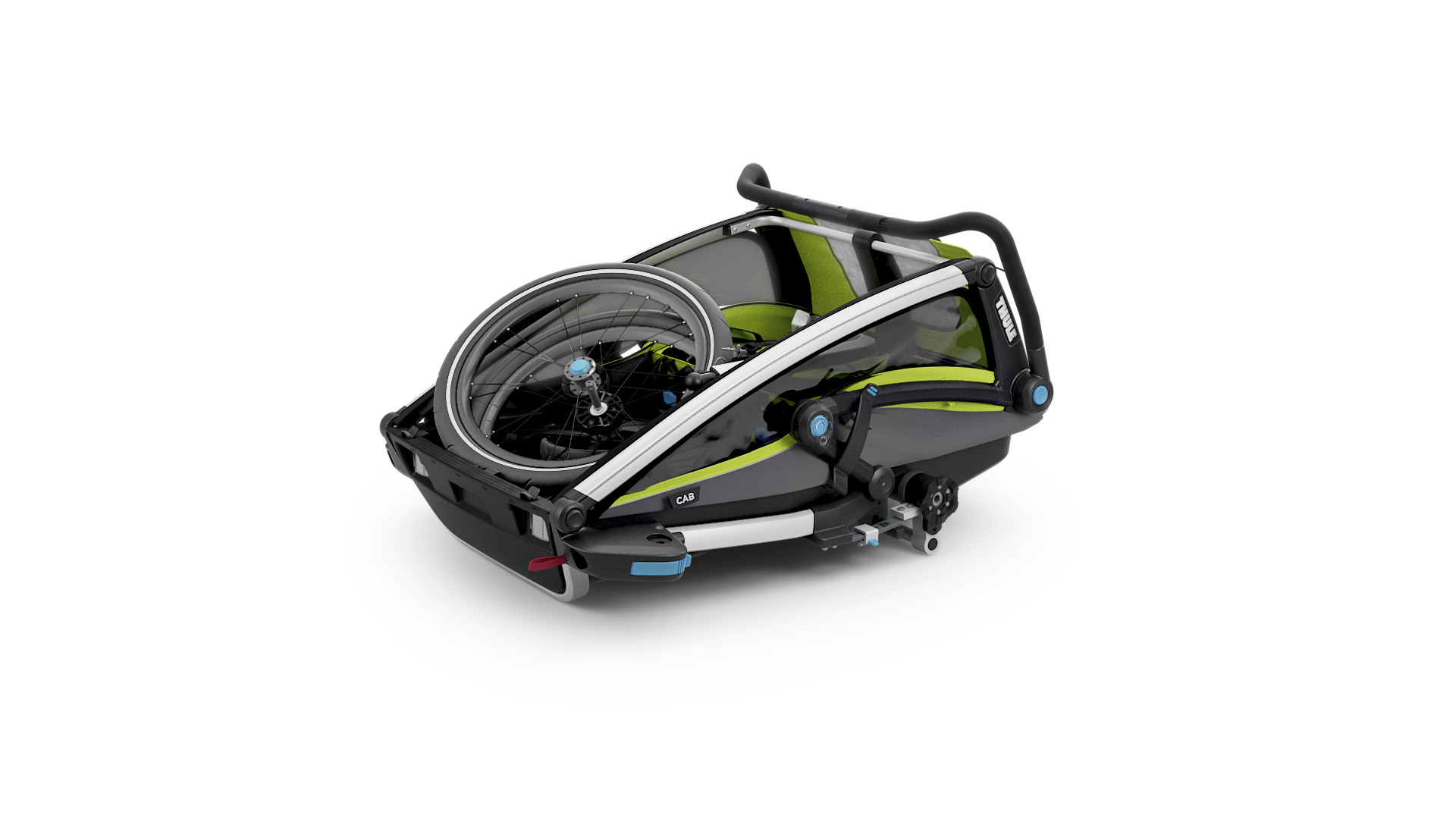 Thule_Chariot_Cab2_Chartreuse_Strolling_FOLDED_10204001