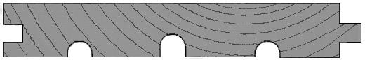 Golvträ med spont och rillor för bättre formstabilitet.