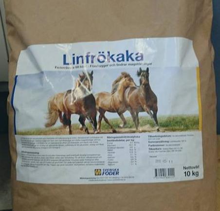 Linfrökaka till häst