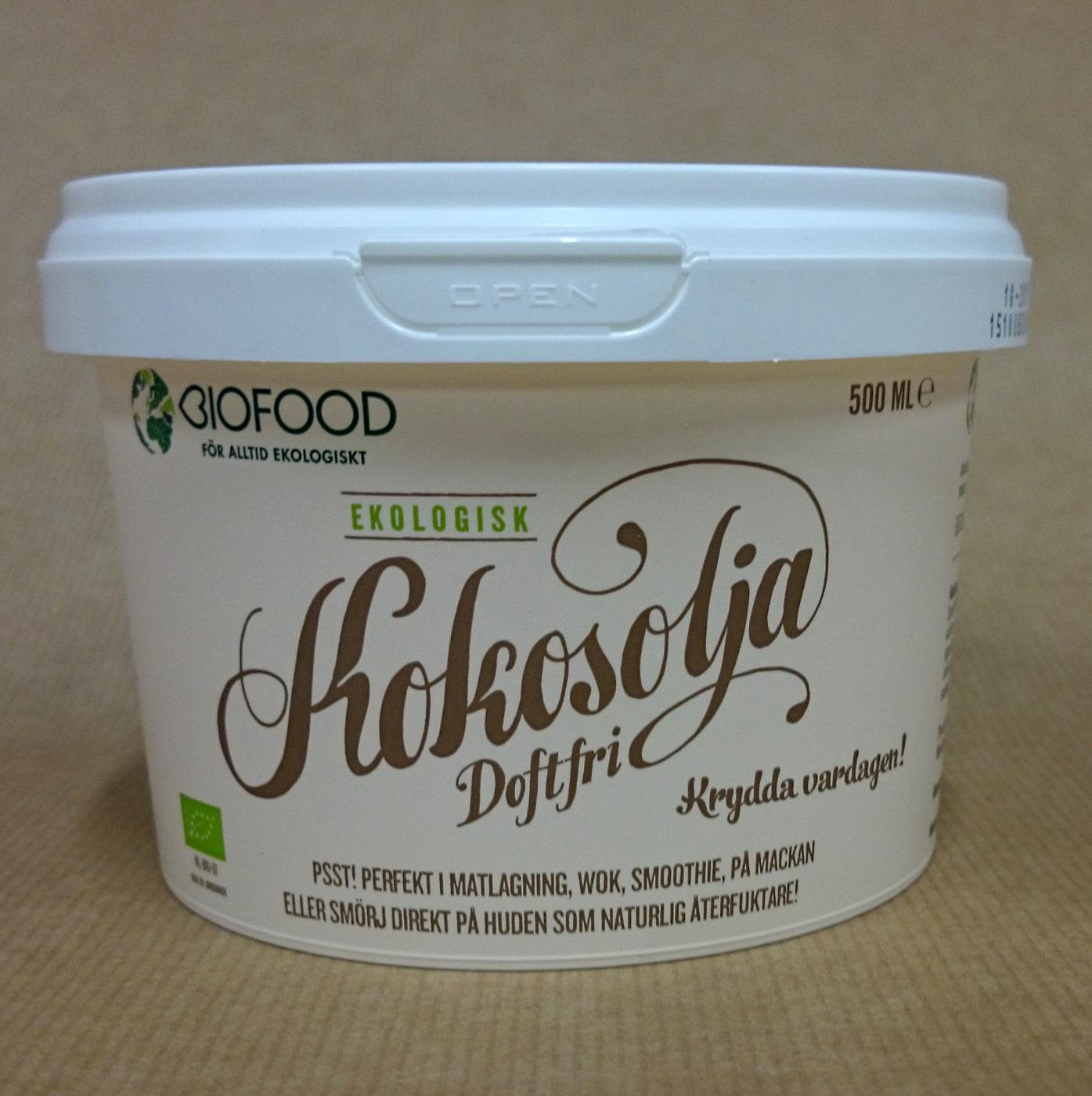 biofood kokosolja doftfri