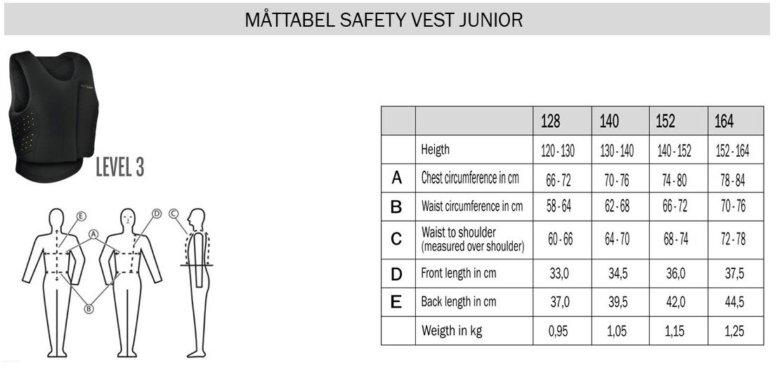 safetyvestjunior-sizeguide