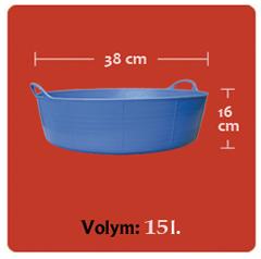 Tubtrug-15L-storleksskiss