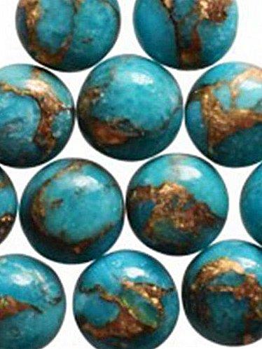 blå copper turkos 10mm-8mm