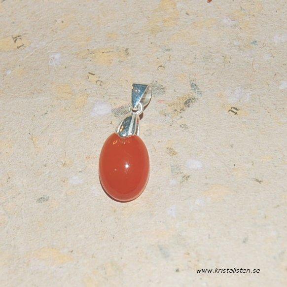 Karneol med silverögla 2