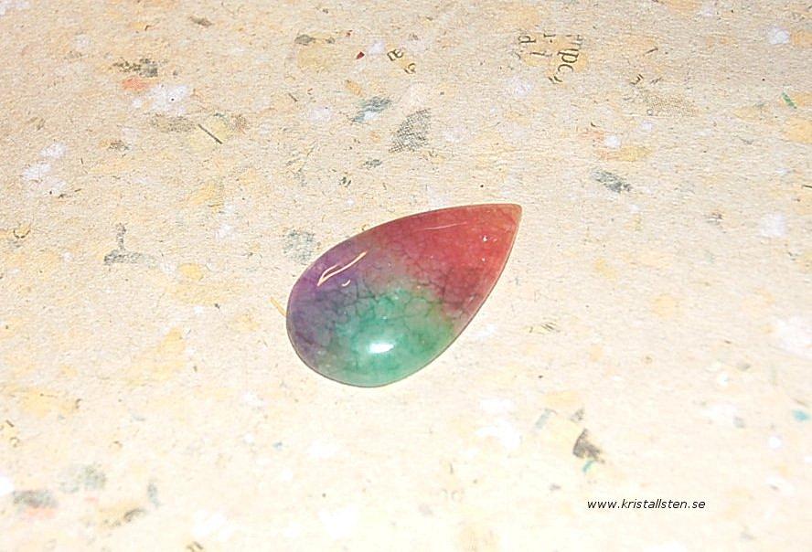 Rainbow solar kvarts 36x20mm 2
