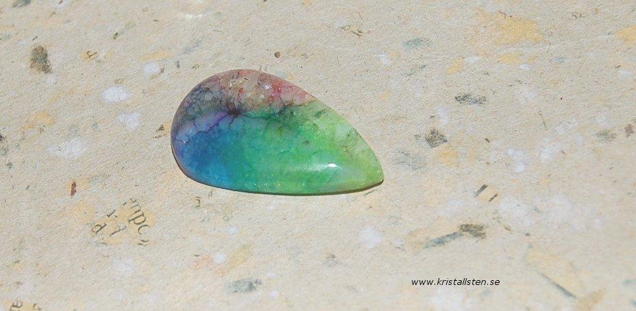 Rainbow solar kvarts38x24mm 2