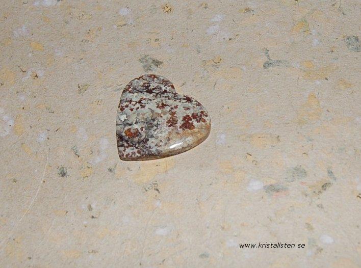 Jaspis hjärta 28mm