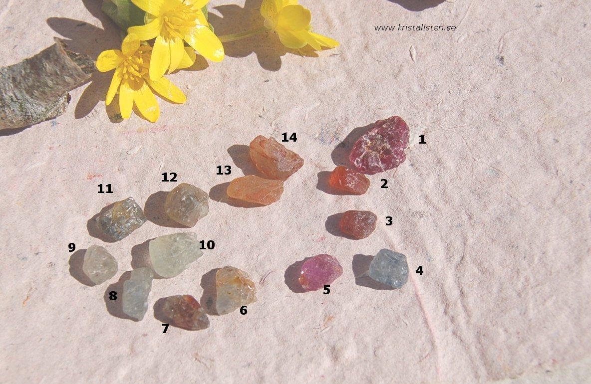 Multi Safir små stenar 2