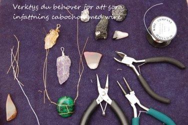 Gör vackra hängen/berlocker med wire och sten