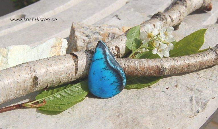 Blå dendritisk Agat 2