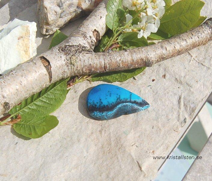 Blå dendritisk Agat