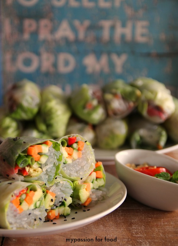 Vietnamese Fresh Summer Rolls with Hoisin Sauce
