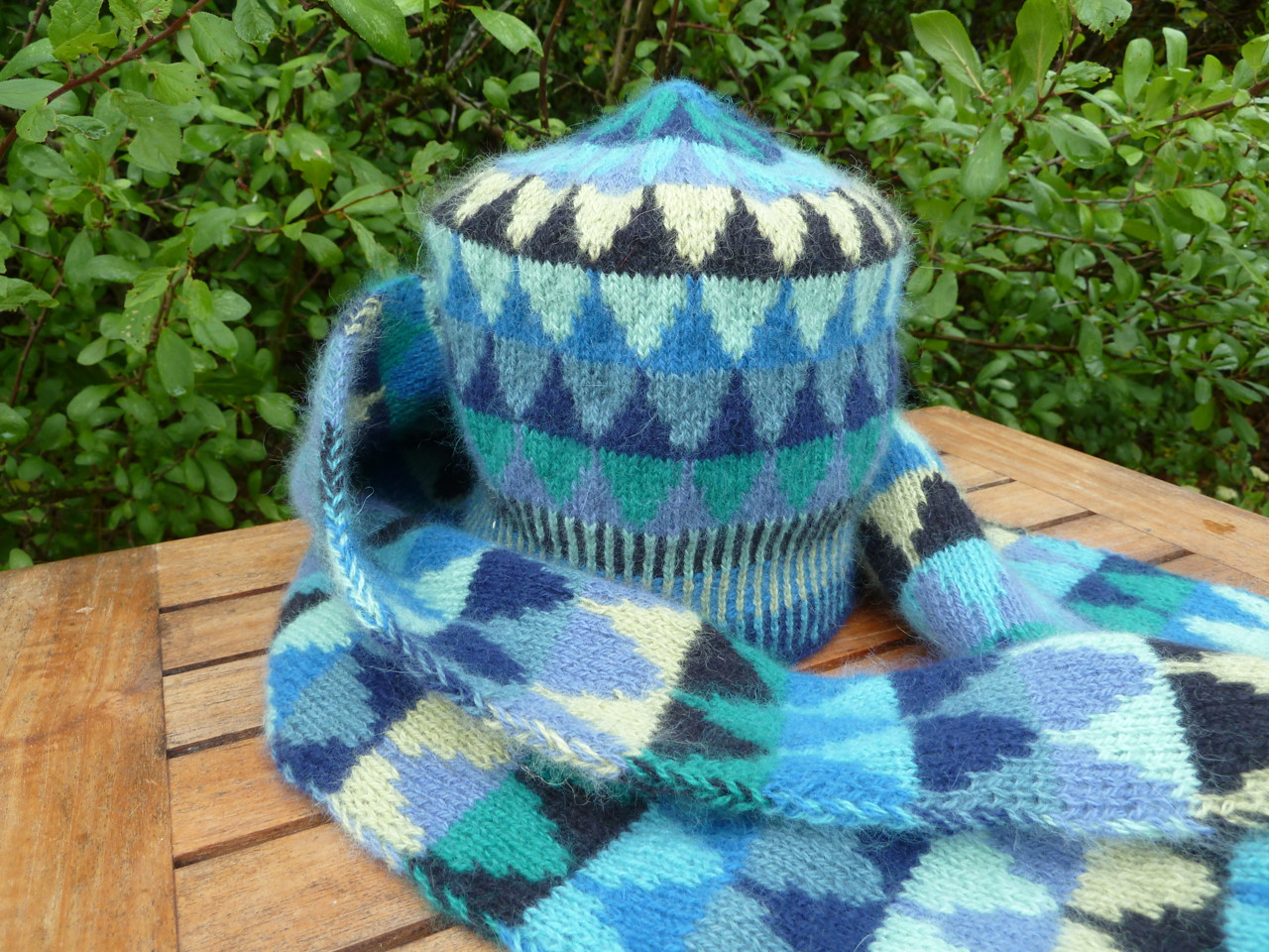 Little Spruces doubleknited scarf kit blue Silfverberg Design