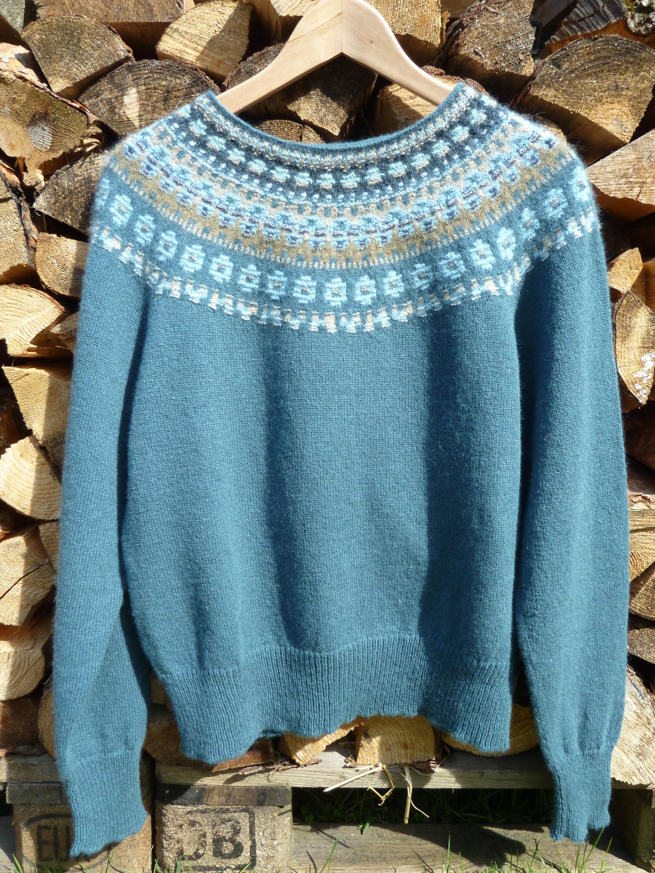 Blå Skimmer pullover cardigan dark maincolor