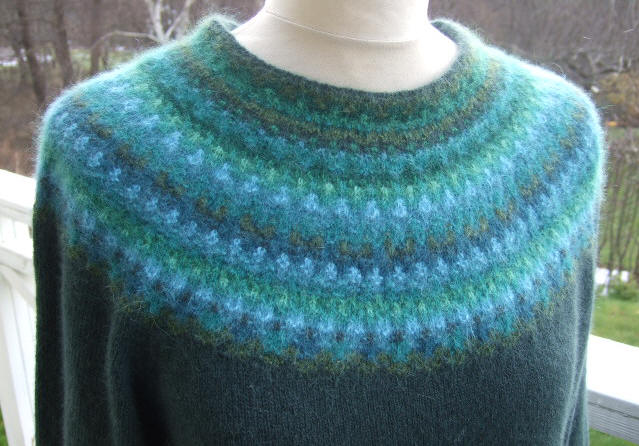 Bohus Stickning Green Wood pullover/cardigan kit