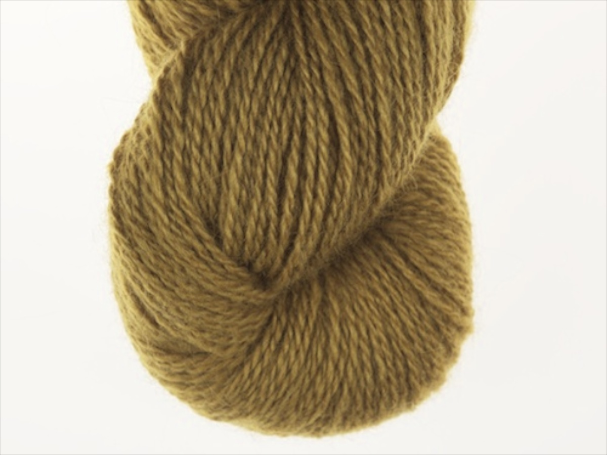 Bohus Stickning garn yarn BS 142 yellow olive-green