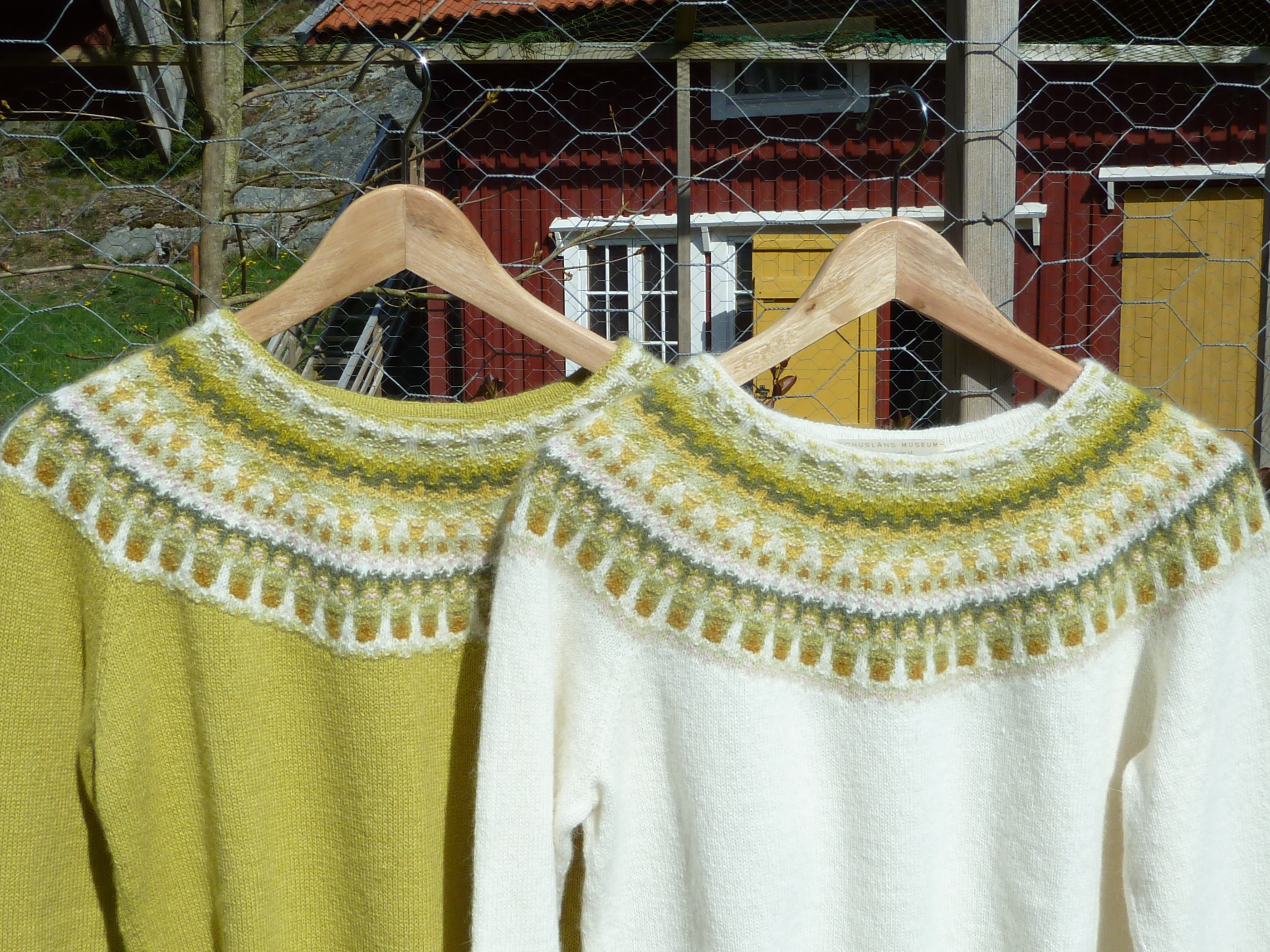 Bohus Stickning Lemon Gul pullover/cardigan kit