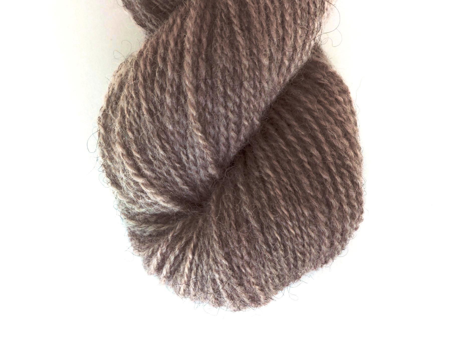 Bohus Stickning garn yarn BS 115 natural brown wool