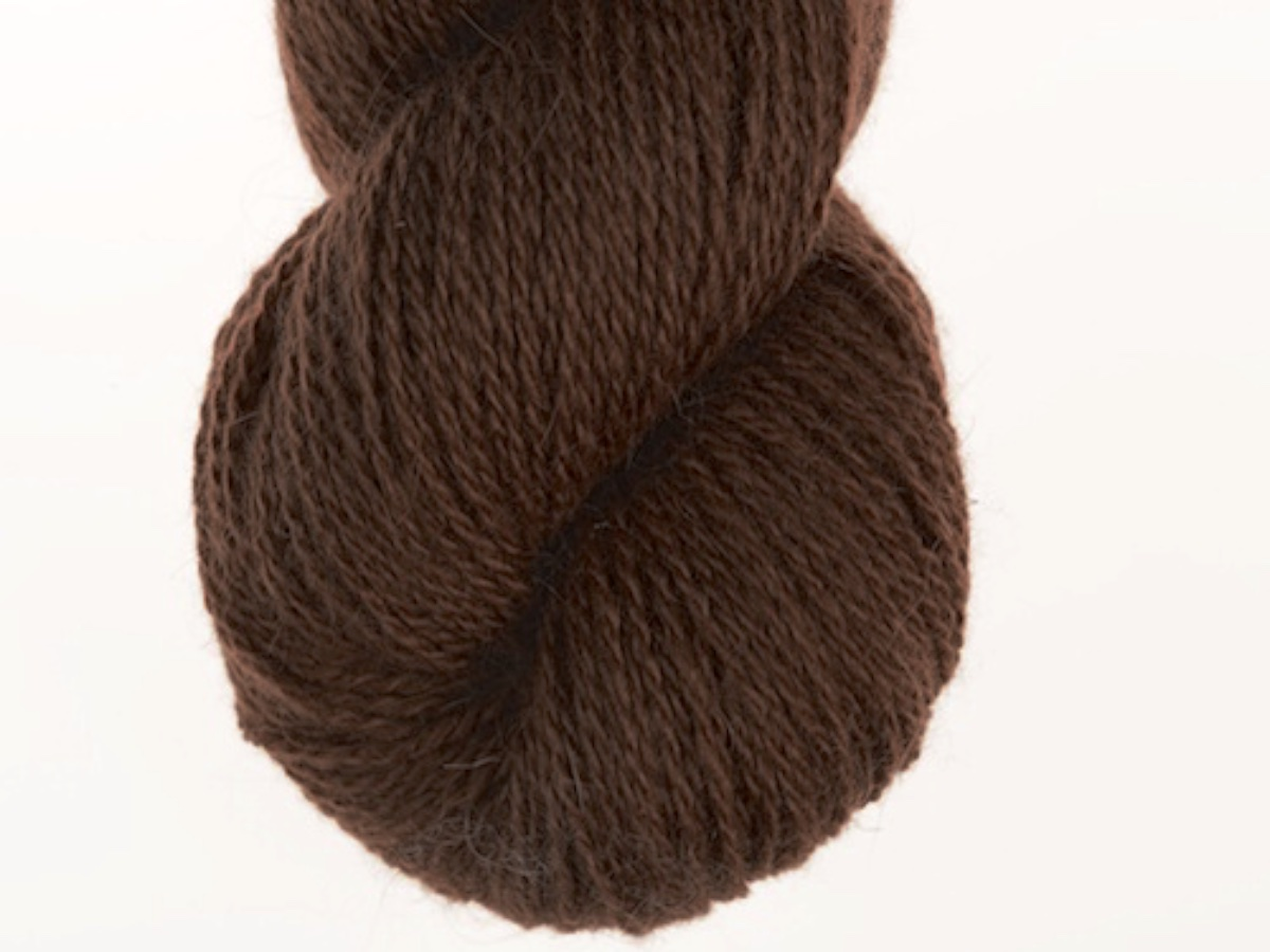 Bohus Stickning garn yarn BS 19 dark brown wool