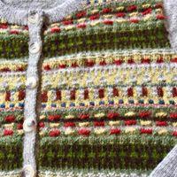 Blomsterrabatten patterned front pullover cardigan Bohus Stickning - Blomsterrabatten jumper/kofta kit