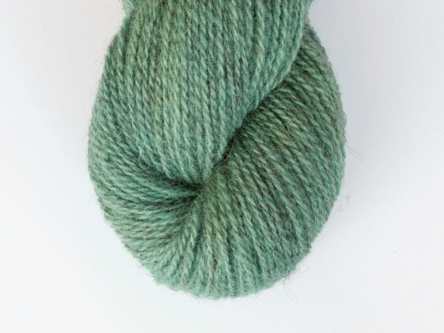 Bohus Stickning garn yarn BS GÄ green lambswool