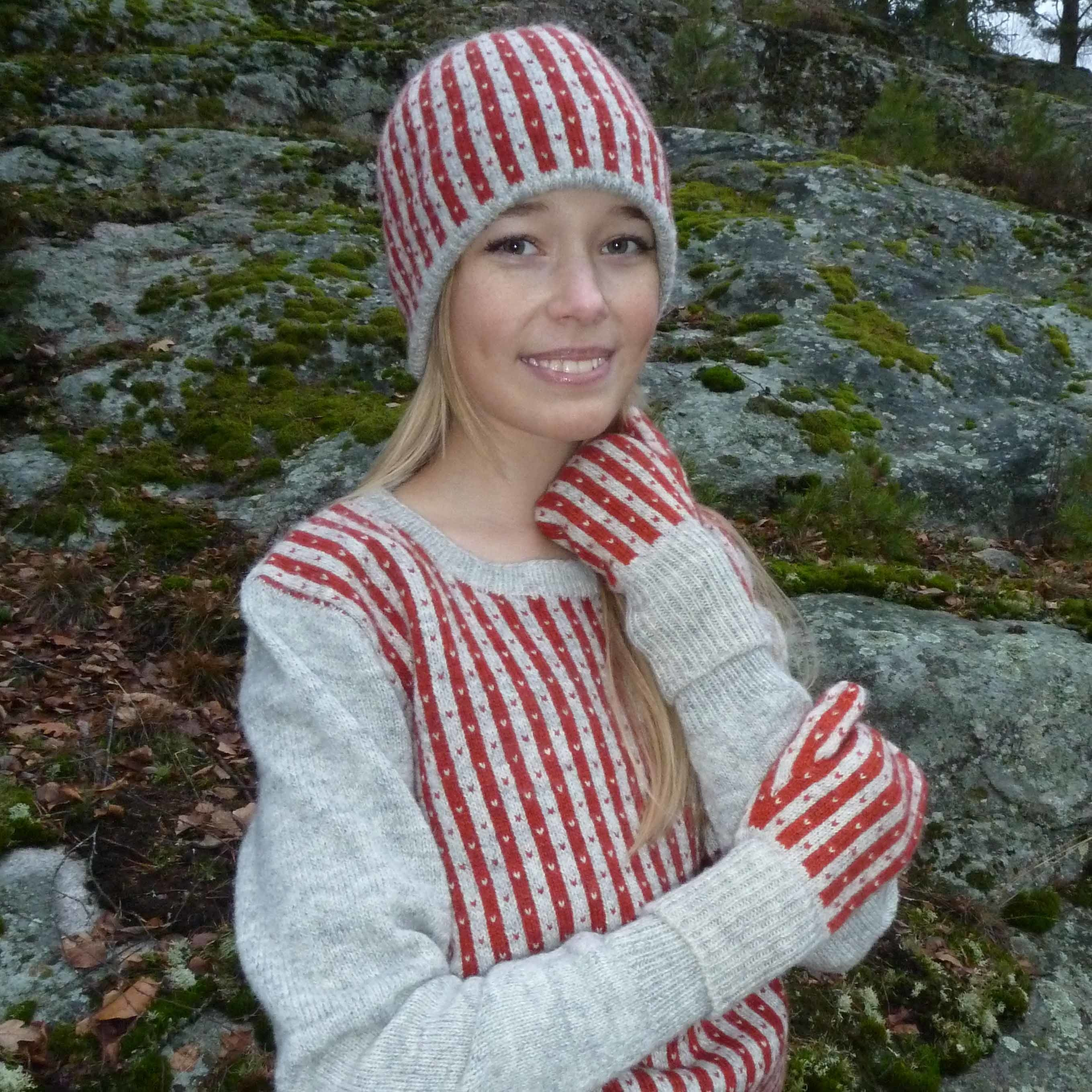 Bohus Stickning Randiga Loppan pullover kit