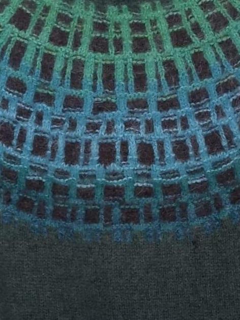 Bohus Stickning Gallret Grönt pullover kit