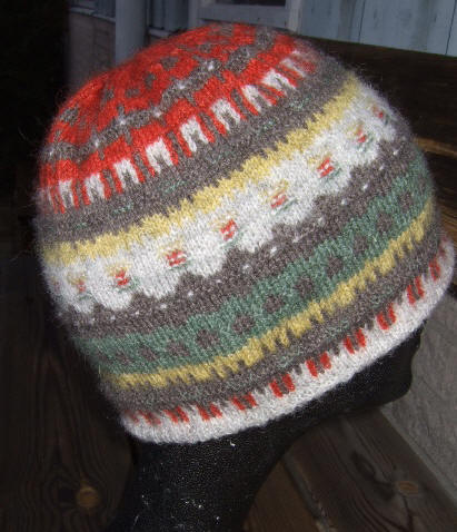 Bohus Stickning the Green Meadow hat and pixie hat kit
