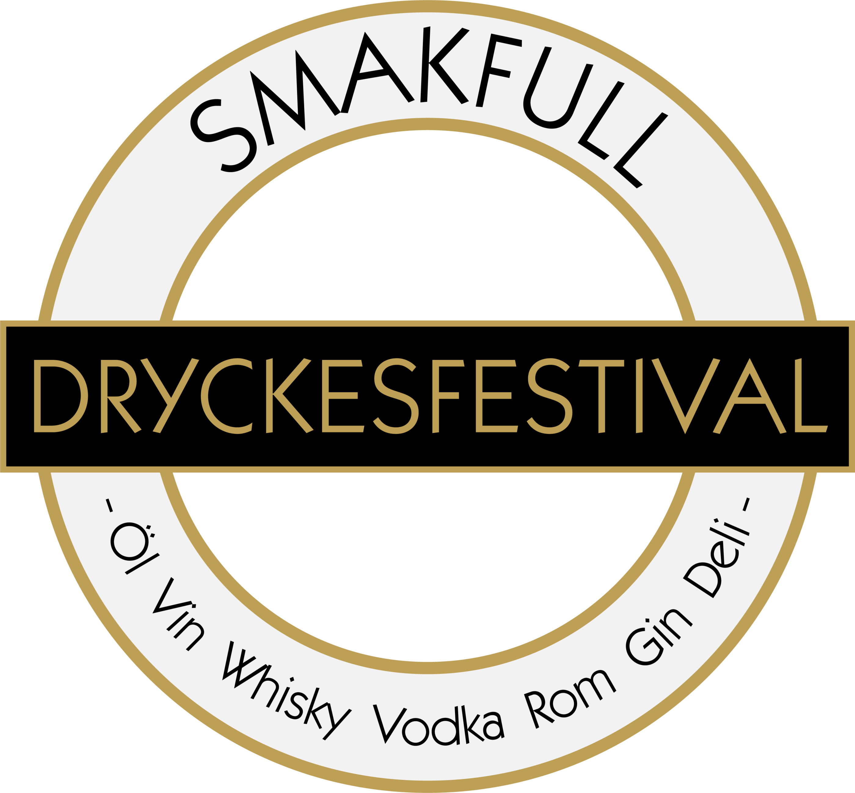 SMAKFULL Dryckesfestival glasloggo vektor