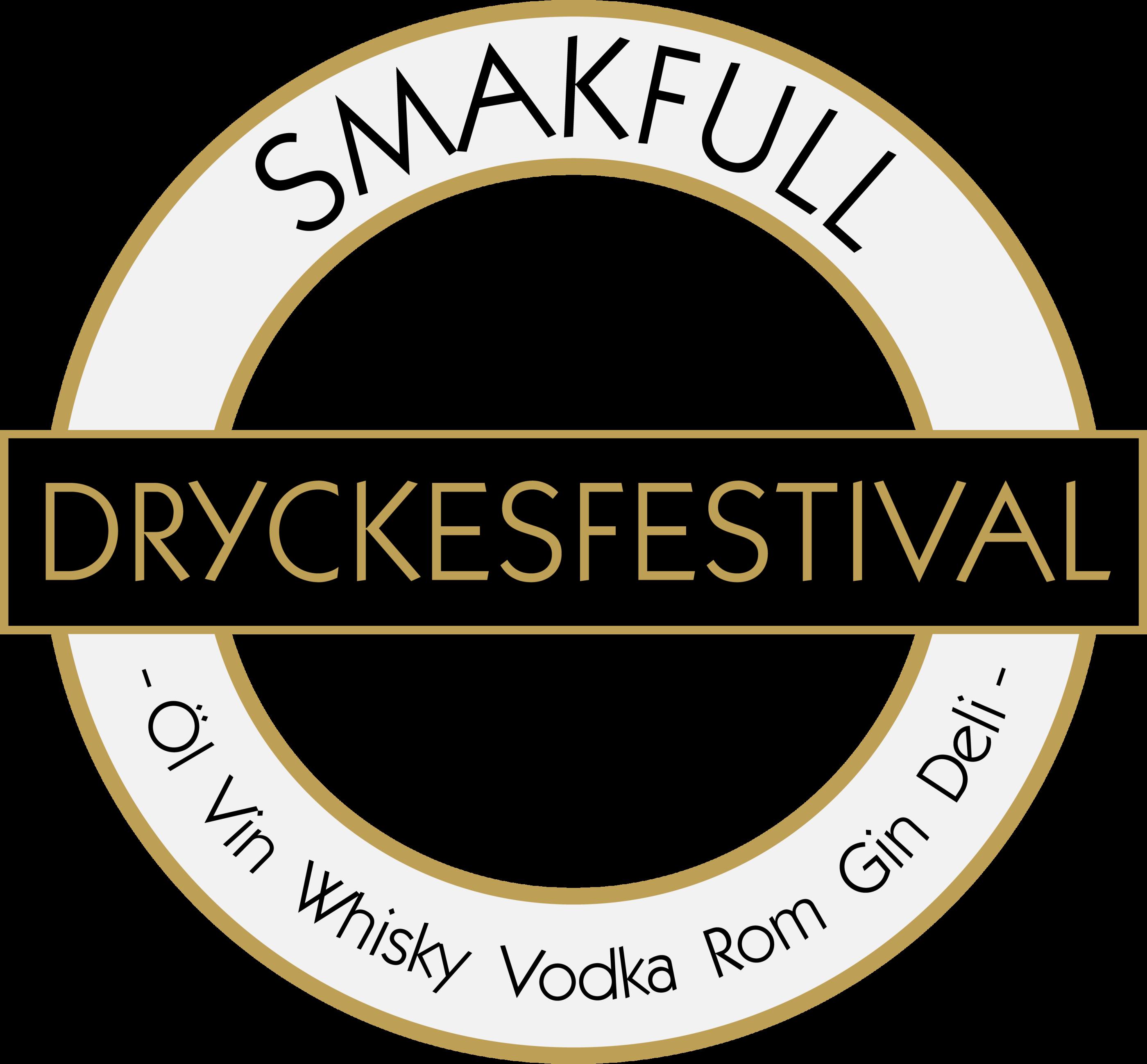SMAKFULL Dryckesfestival glasloggo vektor