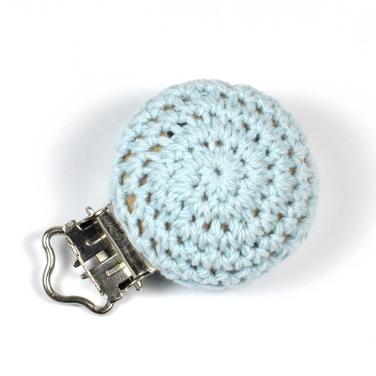 7284 ljusblå clips