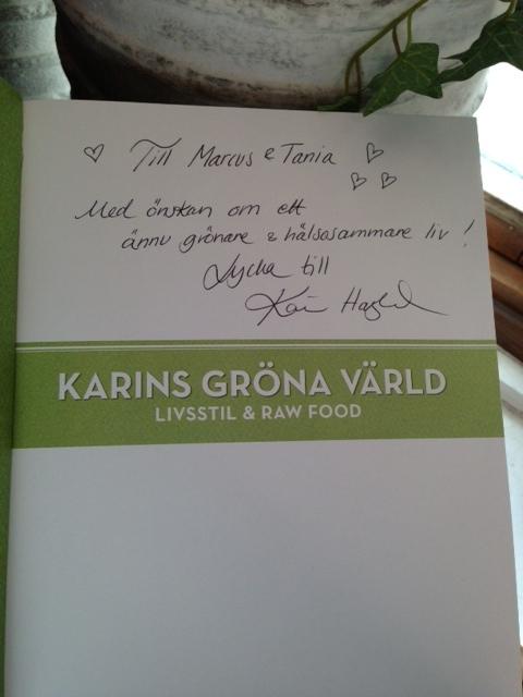 Jag & Marcus tyckte det var en mycket givande kurs för oss och den kommer berika vår vardag & fest med Karins recept bok som jag rekomenderar var och en av er att köpa.