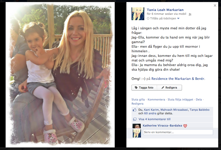 Måste dela med mig av en rolig händelse imorse & samtalet mellan mig & min dotter Micaella även kallad Ella :)