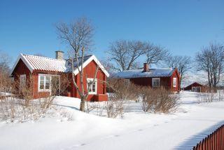 Husen på Båtsholmen i vinterskrud (c) Jan Eric Wilén