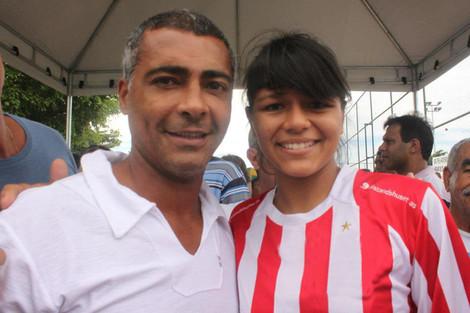 Allesandra fra Futuro Rio sammen med Romario